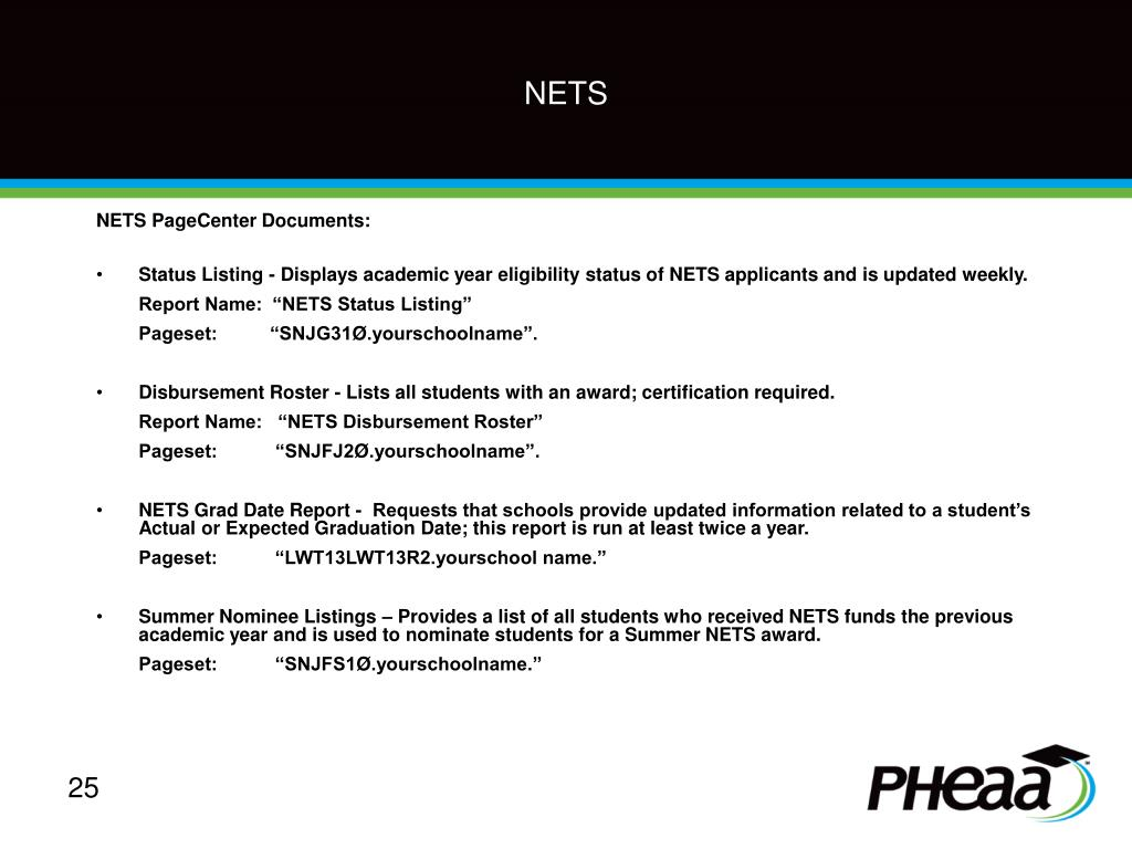 NETS PageCenter Documents: