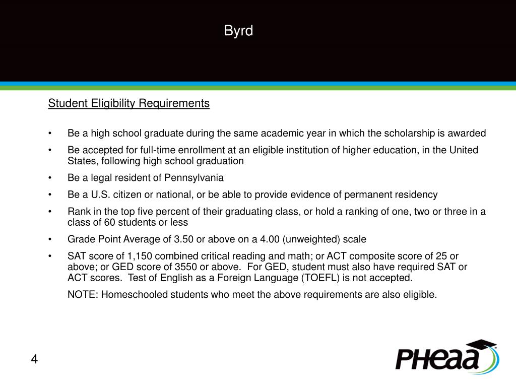 Student Eligibility Requirements