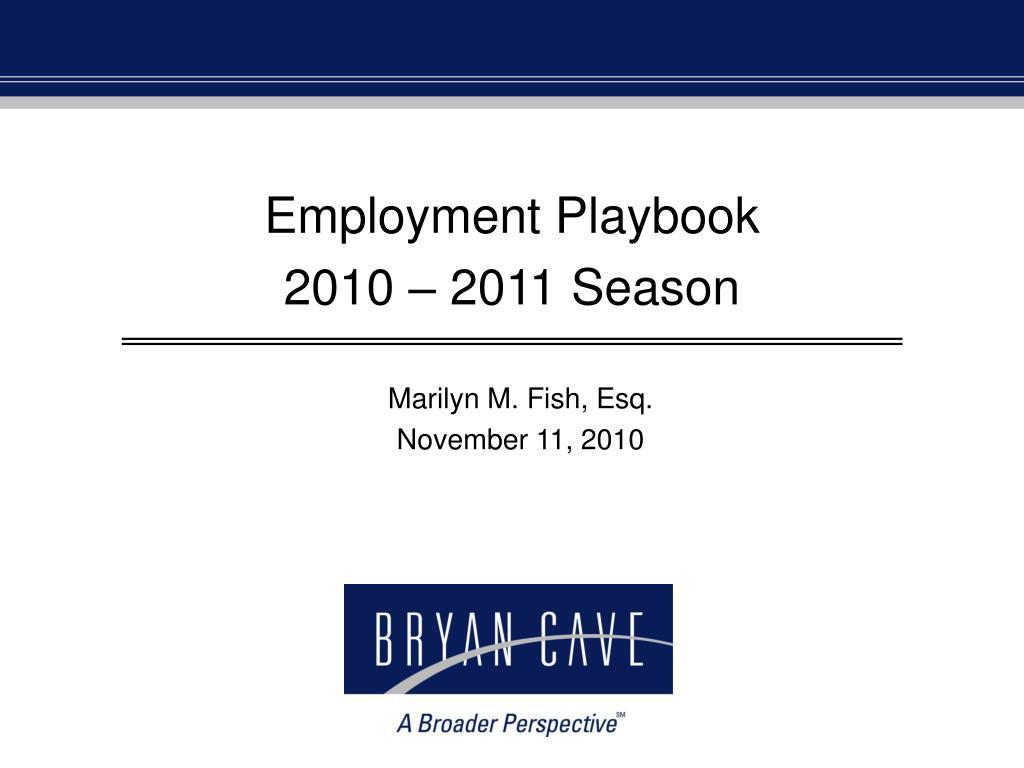 Employment Playbook