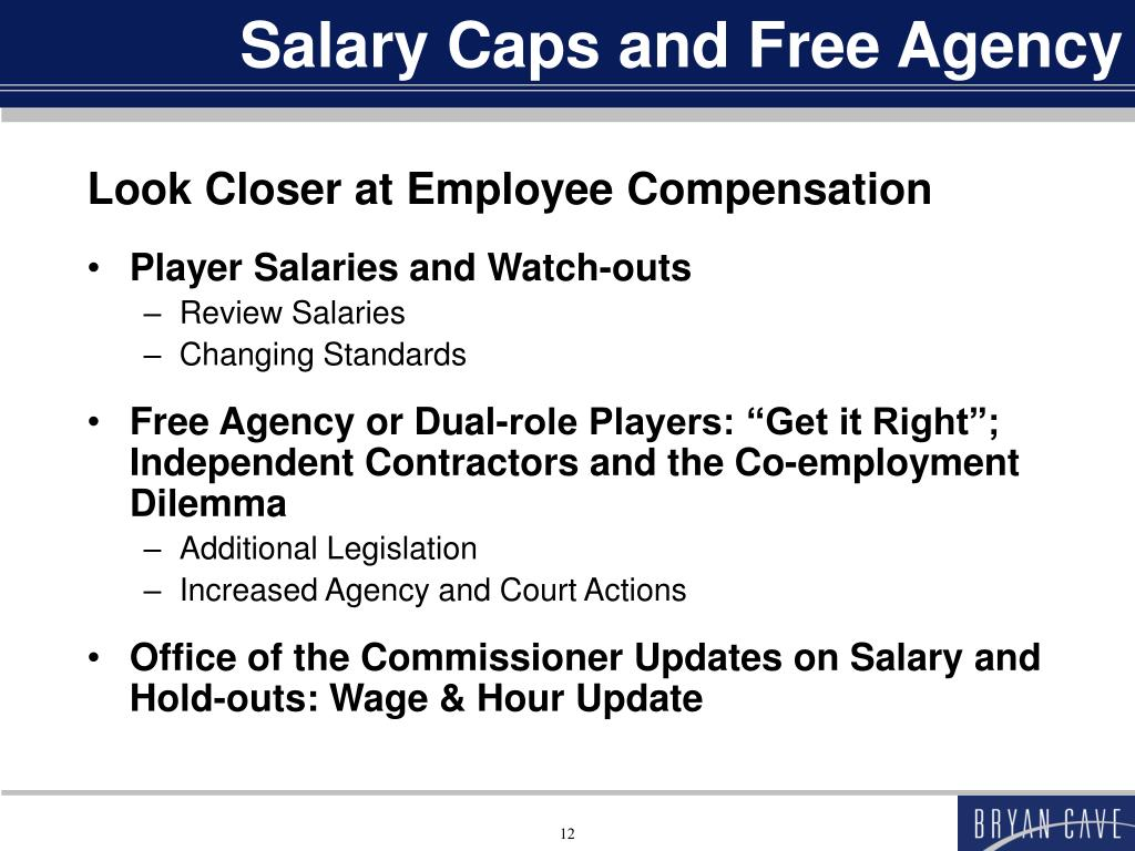 Salary Caps and Free Agency