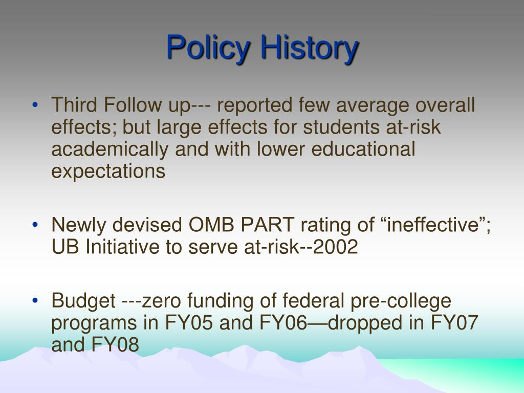 Policy History