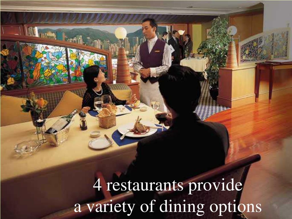 4 restaurants provide