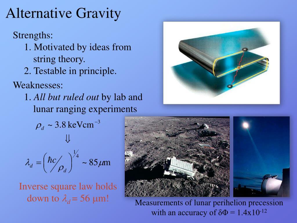 Alternative Gravity