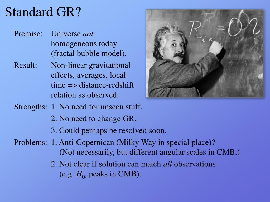 Standard GR?