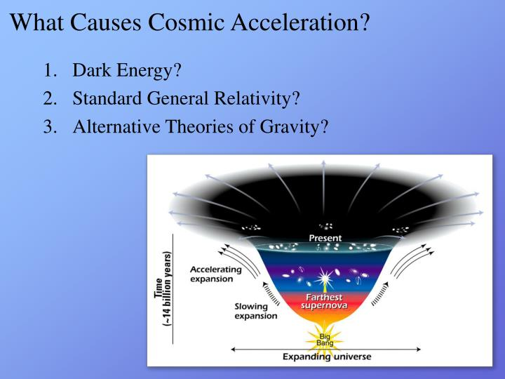 What causes cosmic acceleration