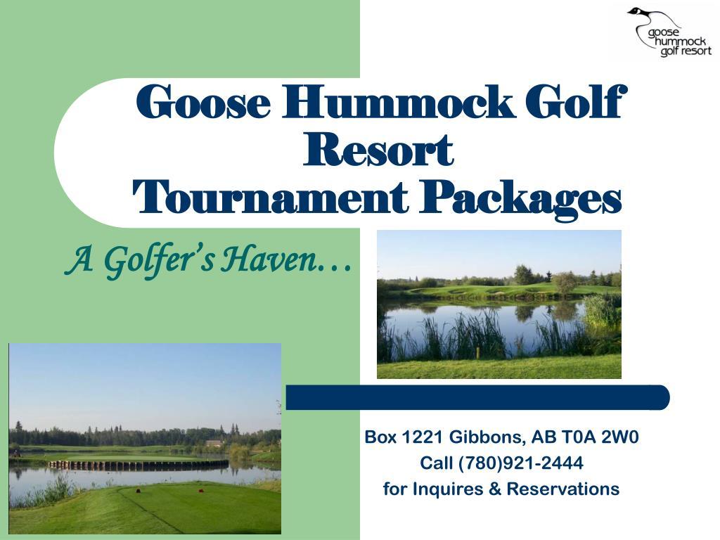 Goose Hummock Golf Resort
