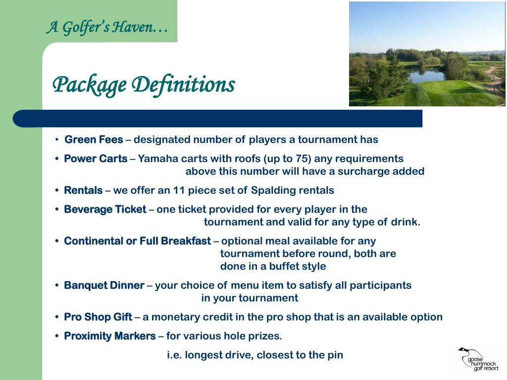 A Golfer's Haven…