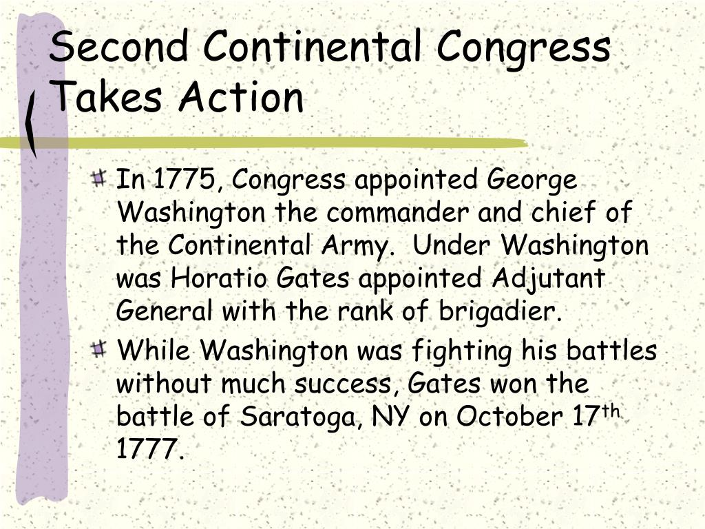Second Continental Congress Takes Action