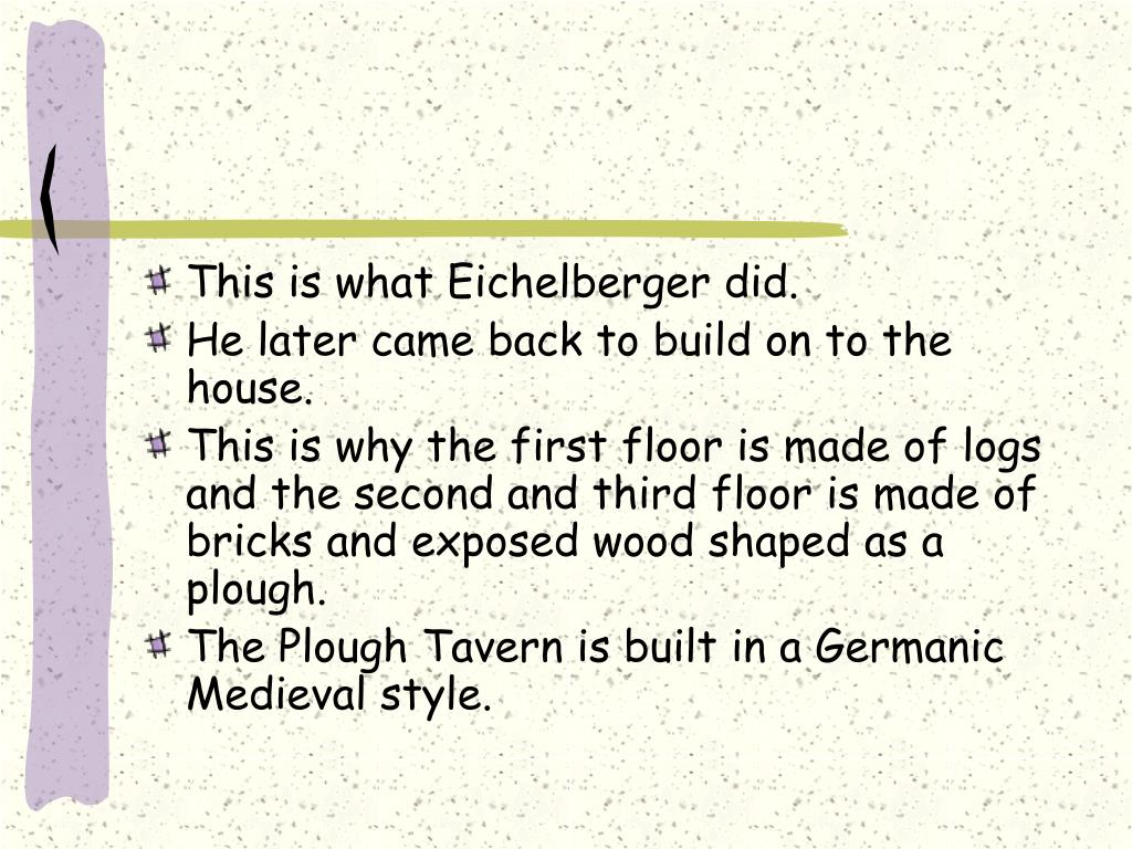This is what Eichelberger did.
