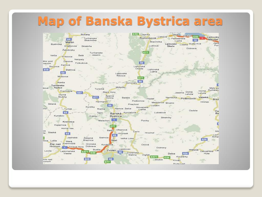 Map of Banska Bystrica area