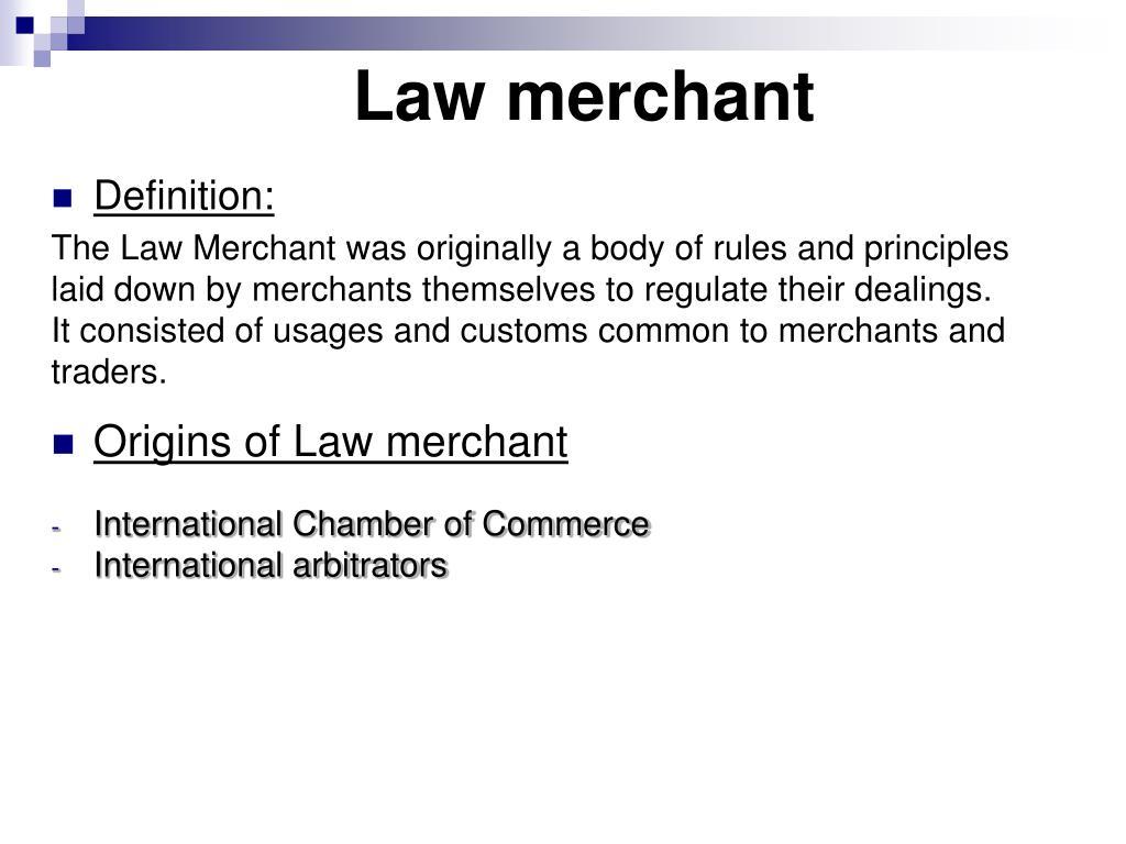 Law merchant