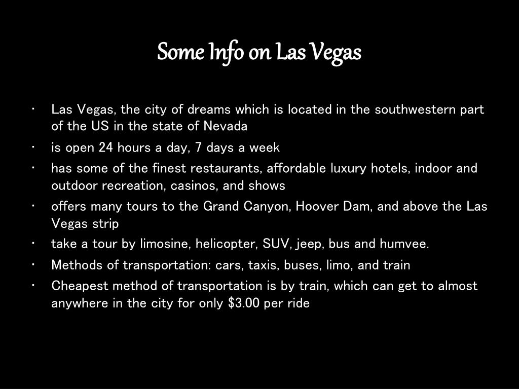 Some Info on Las Vegas