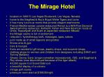 the mirage hotel