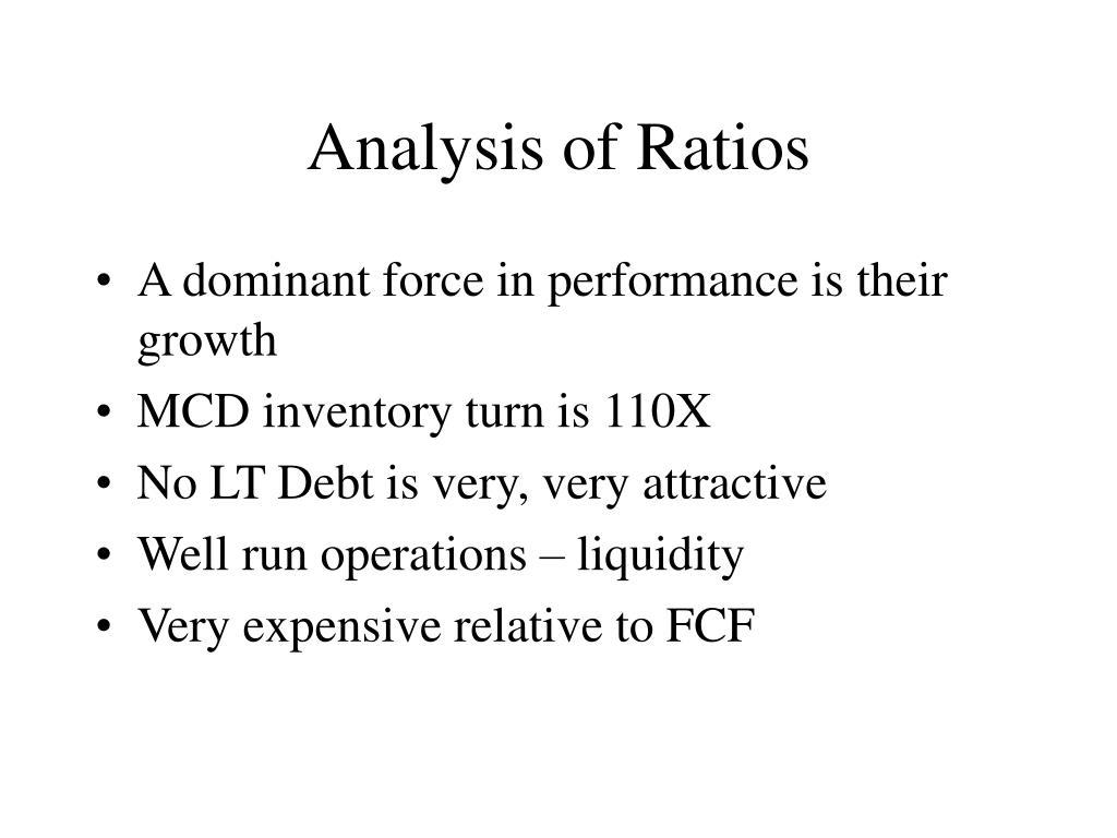 Analysis of Ratios