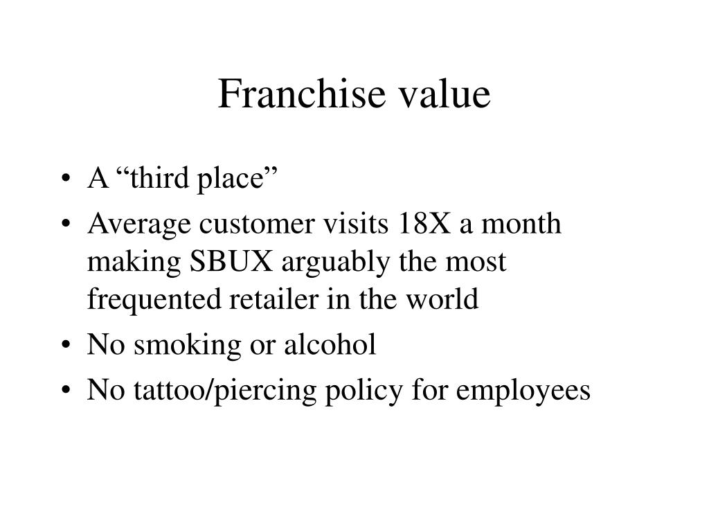 Franchise value
