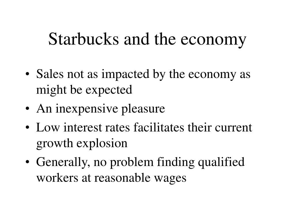 Starbucks and the economy