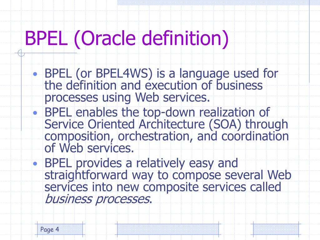 BPEL (Oracle definition)
