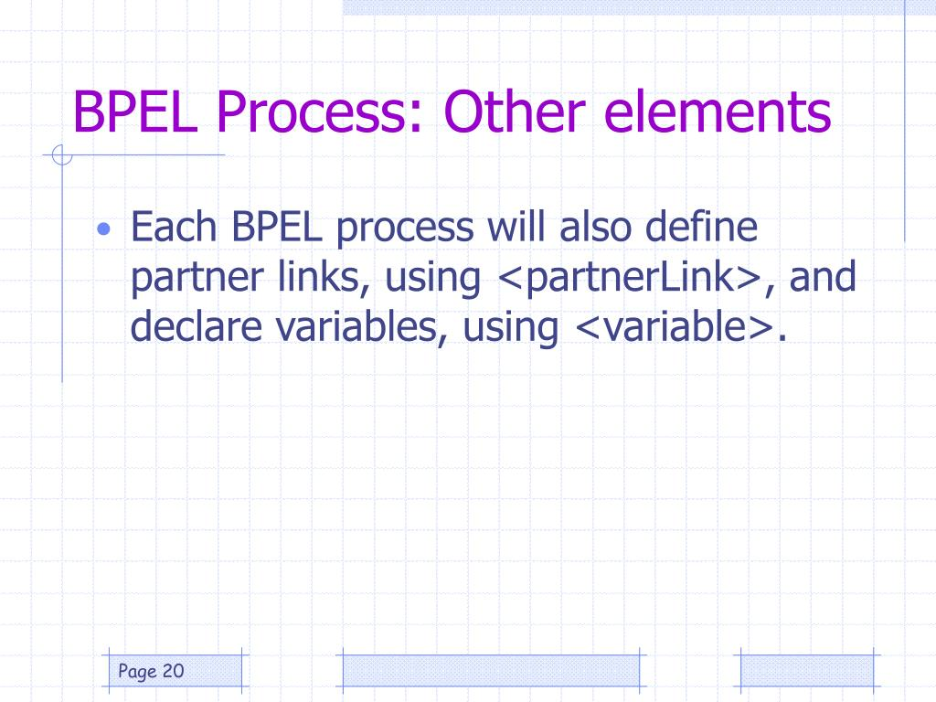 BPEL Process: Other elements