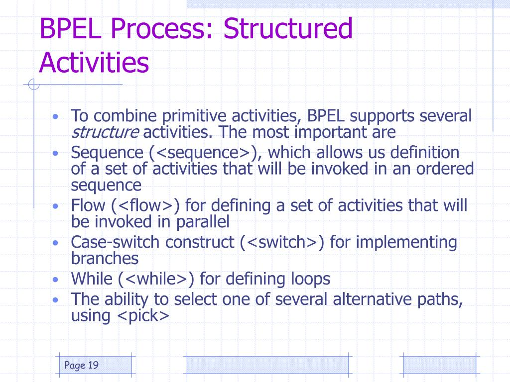 BPEL Process: Structured Activities