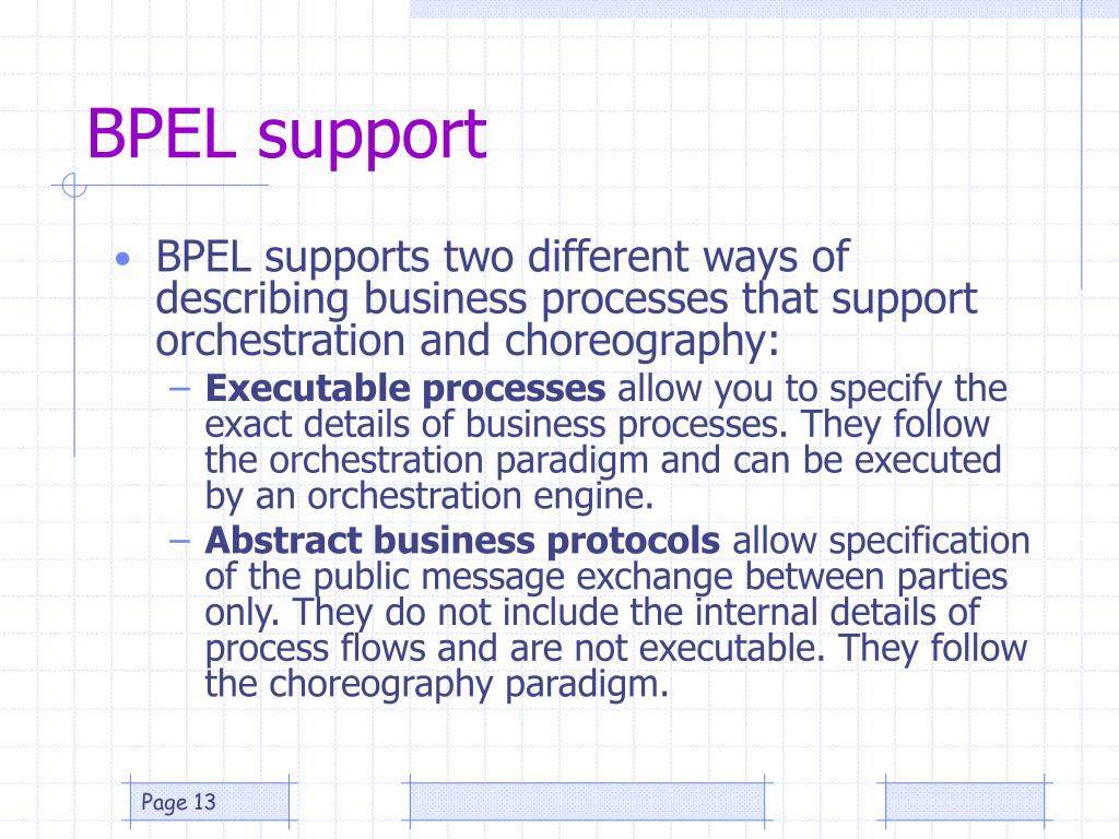 BPEL support