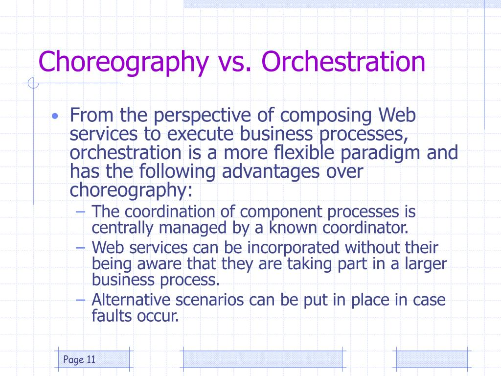 Choreography vs. Orchestration