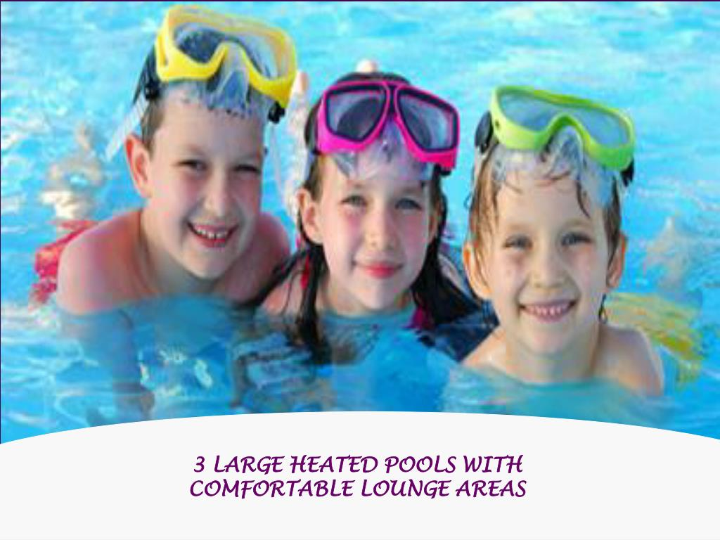 3 LARGE HEATED POOLS WITH COMFORTABLE LOUNGE AREAS