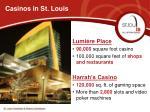 casinos in st louis