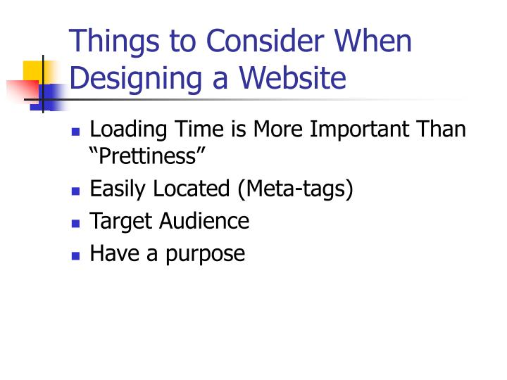 Things to consider when designing a website