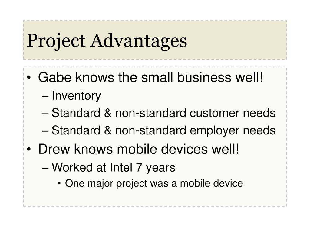 Project Advantages