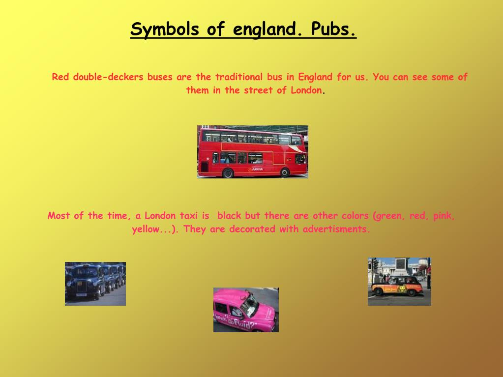 Symbols of england. Pubs.