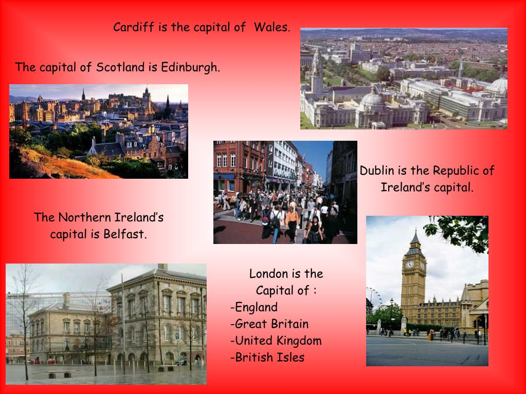 Cardiff is the capital of  Wales.