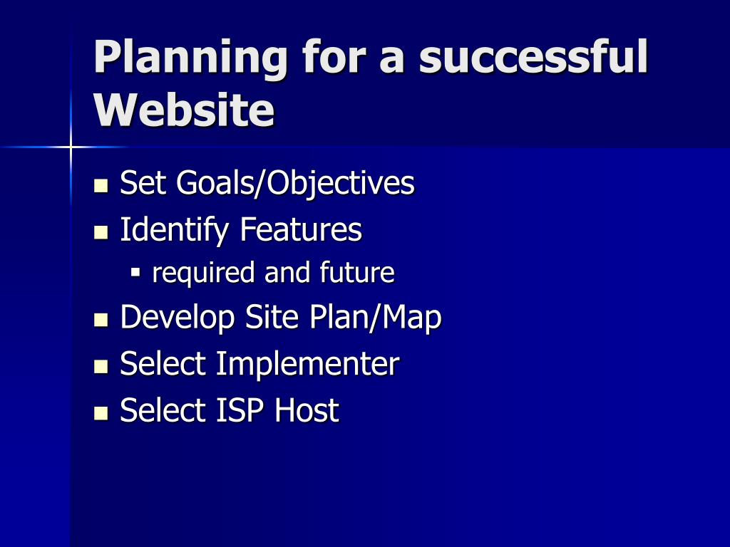 Planning for a successful Website