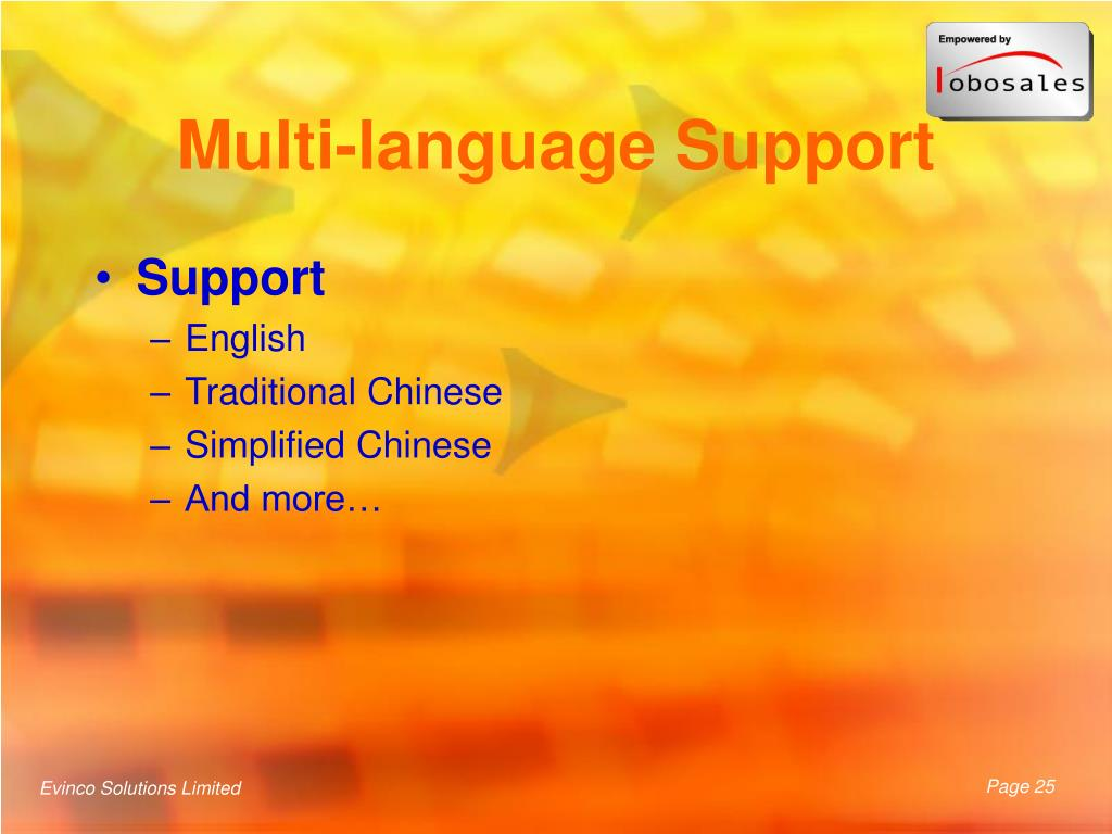 Multi-language Support