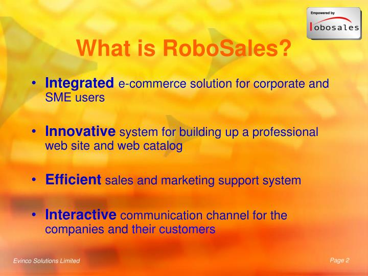 What is robosales