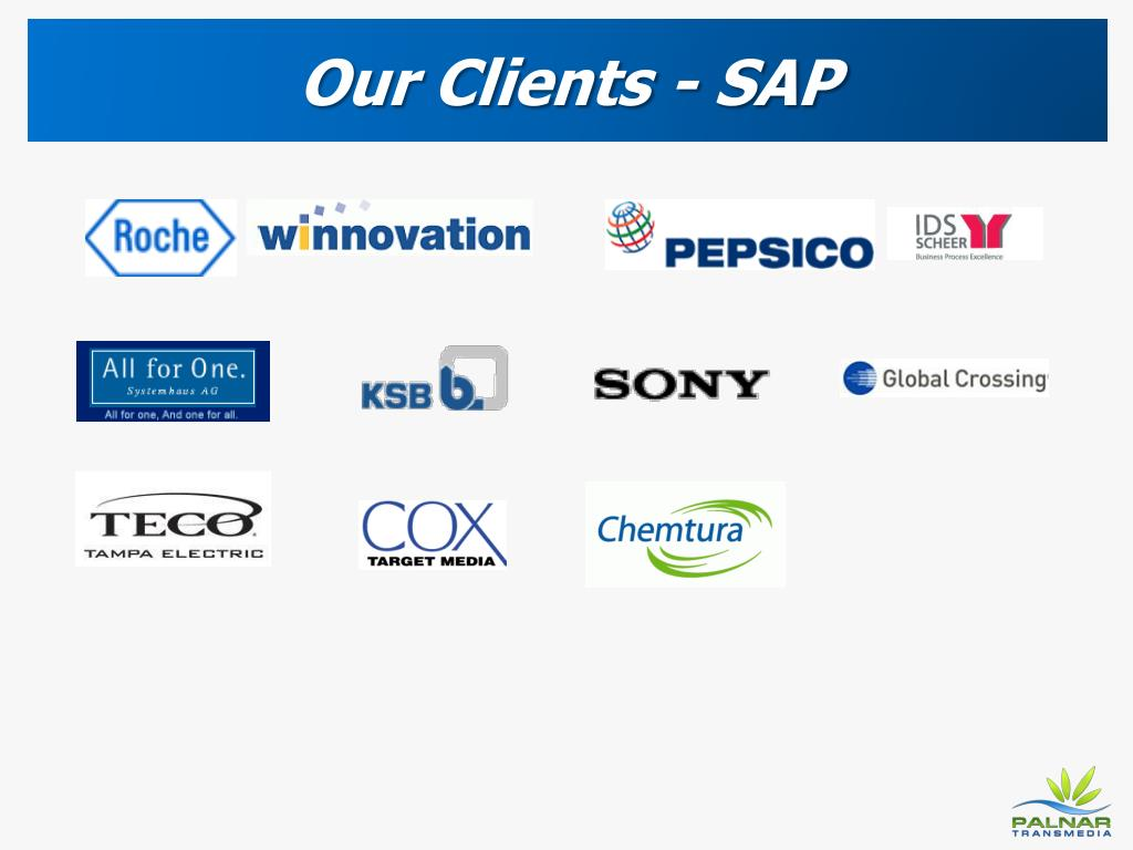 Our Clients - SAP