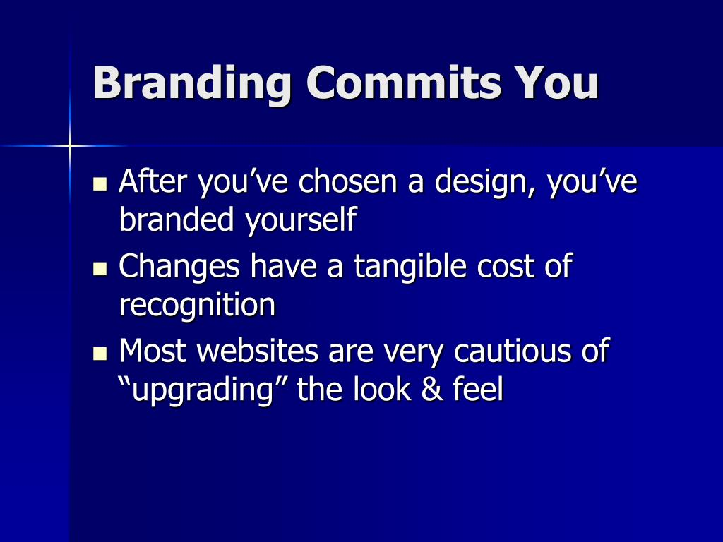 Branding Commits You