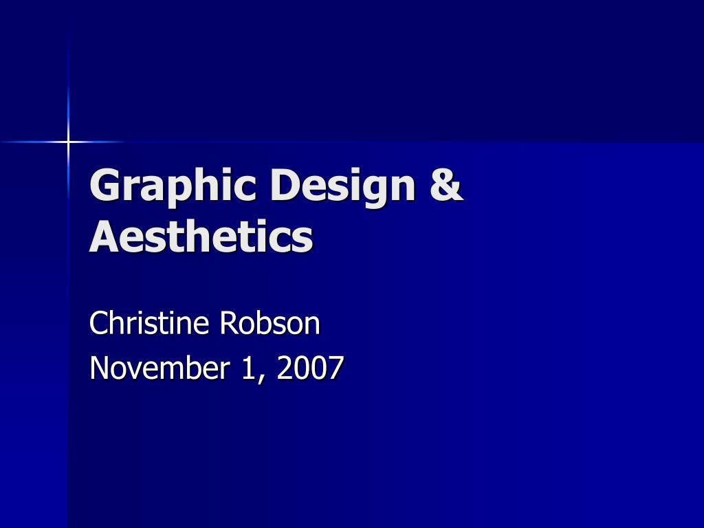Graphic Design & Aesthetics