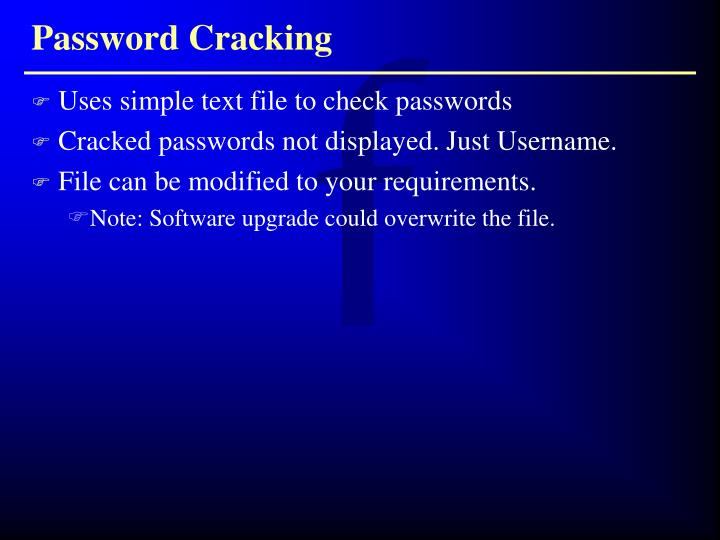 Uses simple text file to check passwords