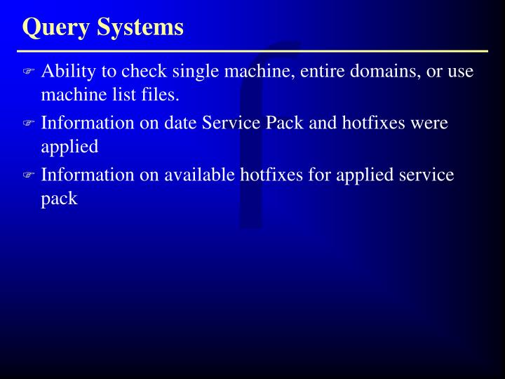 Query Systems