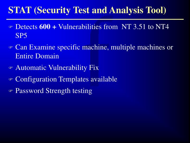 STAT (Security Test and Analysis Tool)
