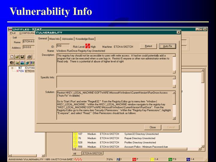 Vulnerability Info