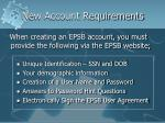 new account requirements