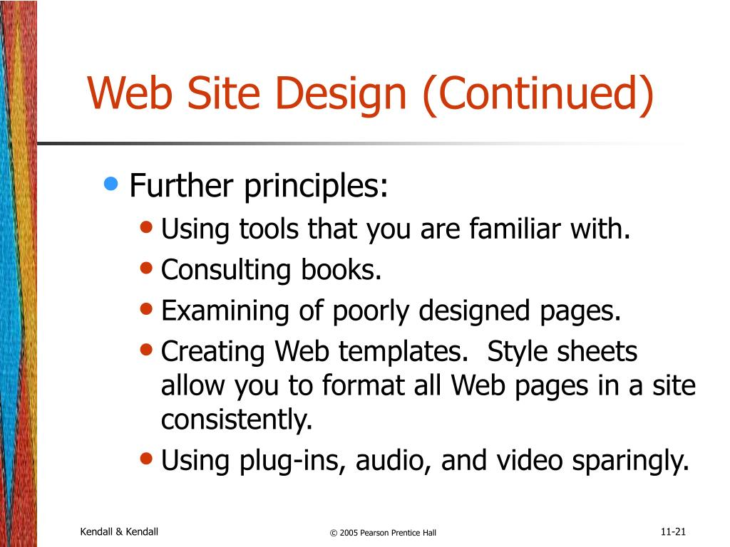Web Site Design (Continued)