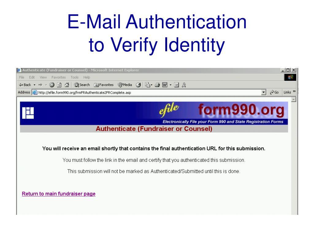 E-Mail Authentication