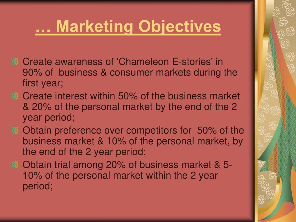 … Marketing Objectives