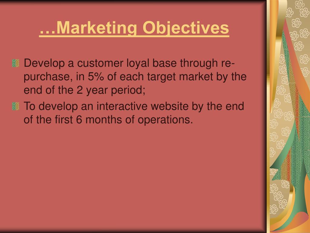 …Marketing Objectives