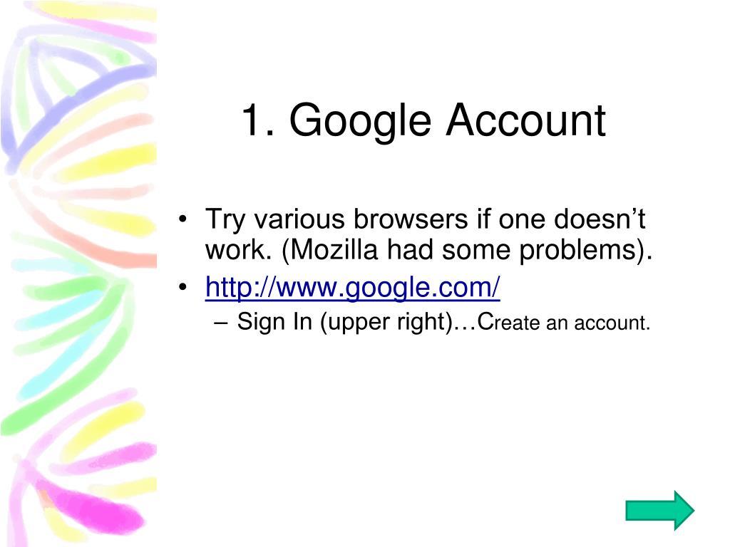 1. Google Account