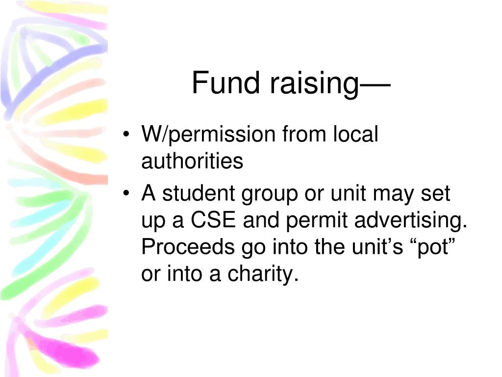 Fund raising—