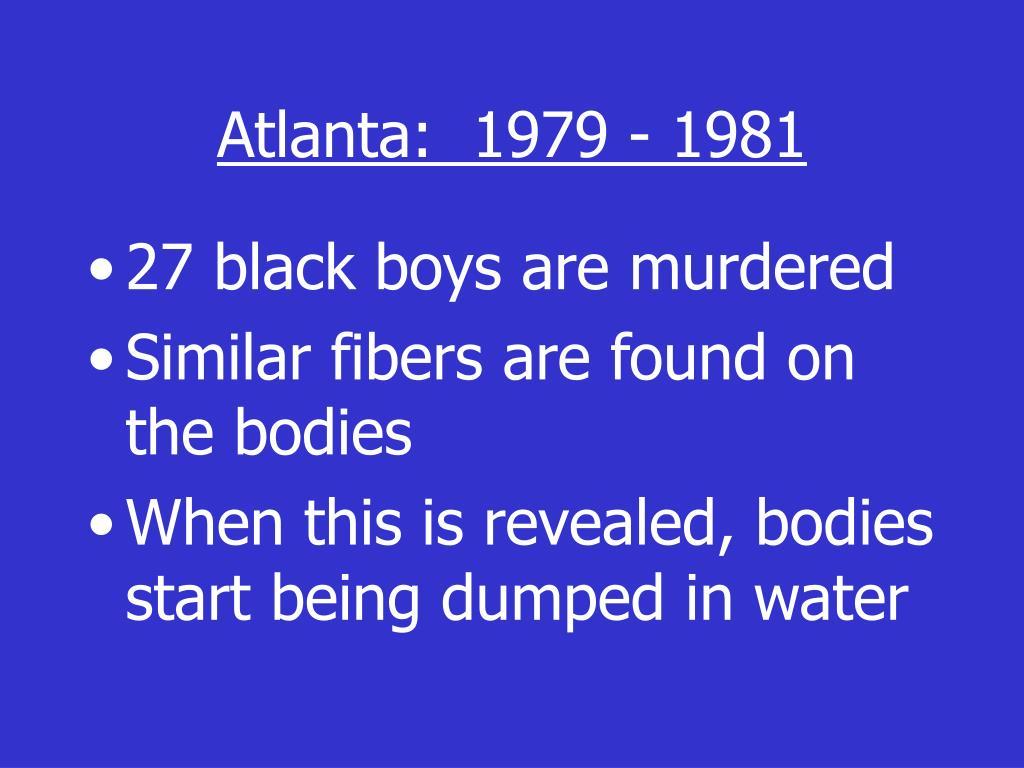 Atlanta:  1979 - 1981