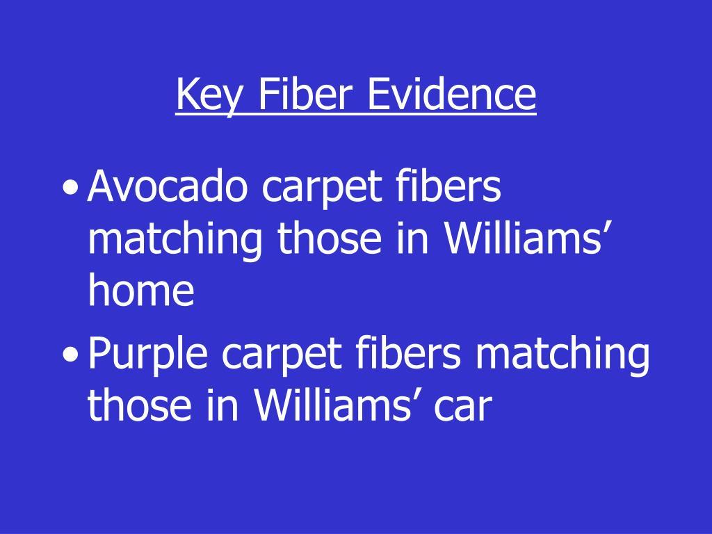 Key Fiber Evidence